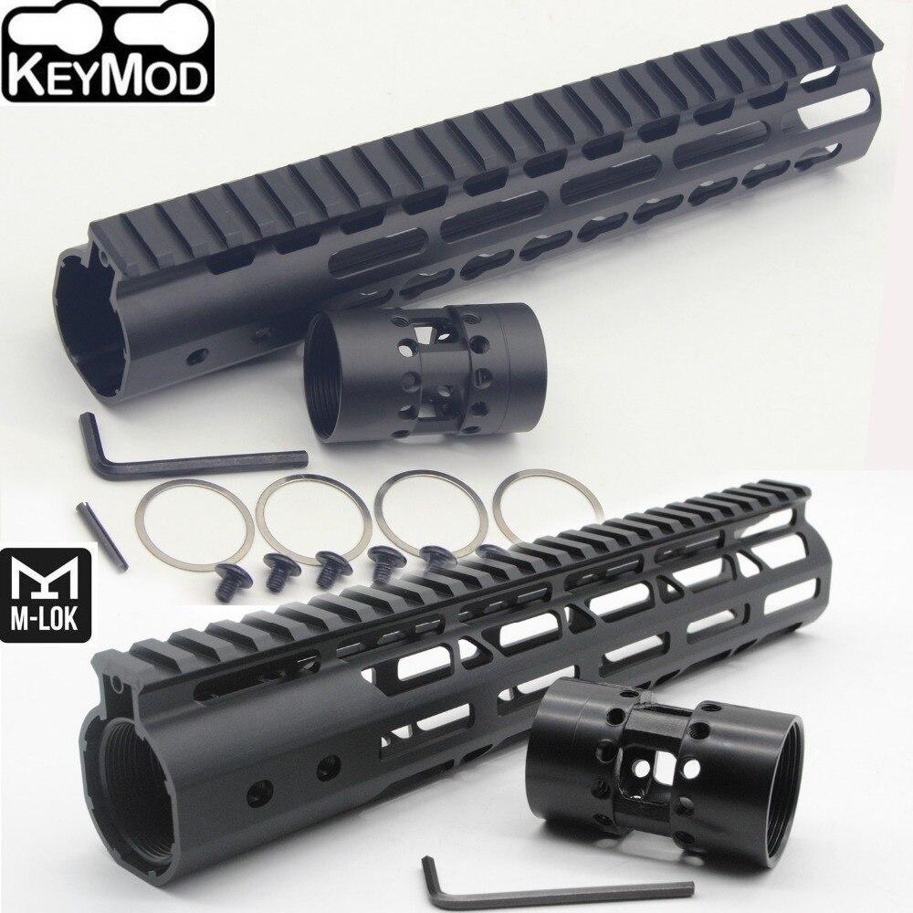 TriRock 10'' inch Keymod/M-lok Style Handguard Rail Free Float Picatinny Mount System_ Fit .223/5.56 AR-15 Black Color Anodized