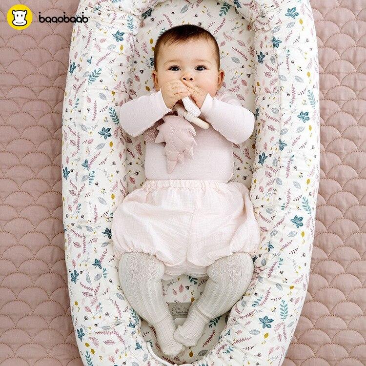 2018 новая детская кроватка колыбель из чистого хлопка туристическая кровать для