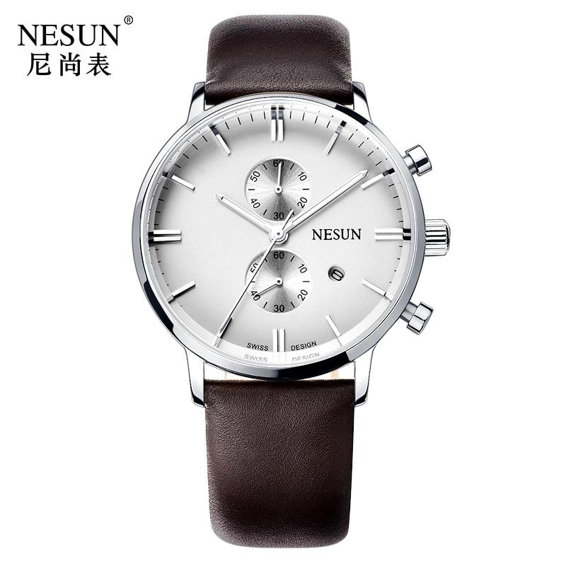 Switzerland Nesun Women's Watches Luxury Brand Japan Import Quartz movement Watch Women Chronograph clock reloj hombre LN8601-1