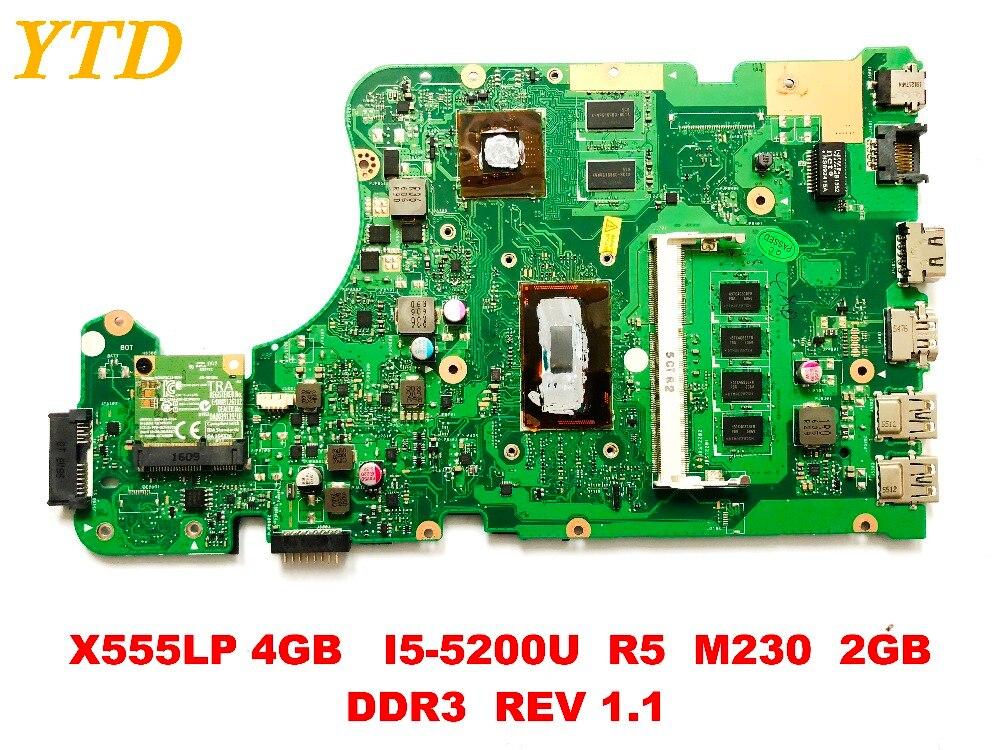 الأصلي ل ASUS X555LP محمول motherboardX555LP 4GB I5-5200U R5 M230 2GB DDR3 REV 1.1 اختبار جيد شحن مجاني