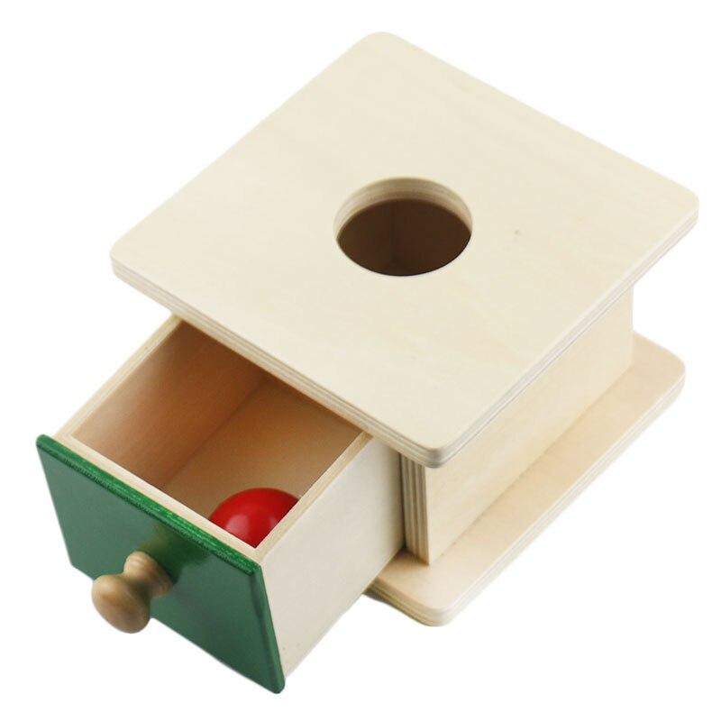 Обучающие материалы Монтессори, деревянная коробка для монет, коробка для мячей, Обучающие деревянные игрушки Монтессори для раннего обуче...