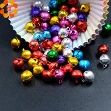 Clochette ample en fer 100 pièces   10MM, perles petites pour décoration de fête de Festival/décorations darbre de noël/accessoires dartisanat de bricolage