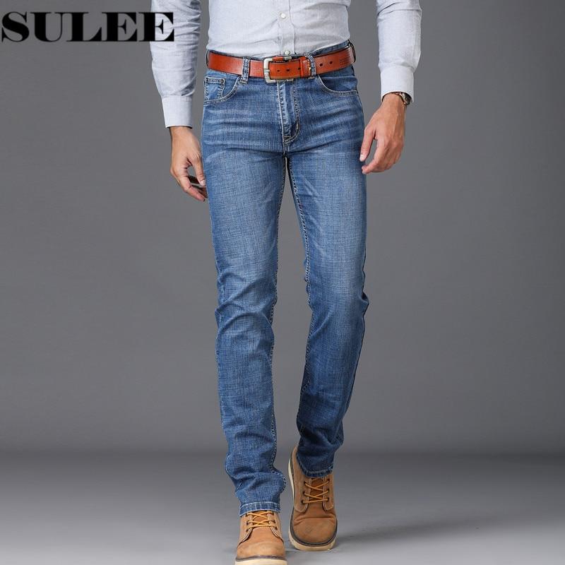 2018 calças de brim dos homens azuis ajuste fino estiramento denim casual qualidade calças de negócios para o homem meninos jean homme