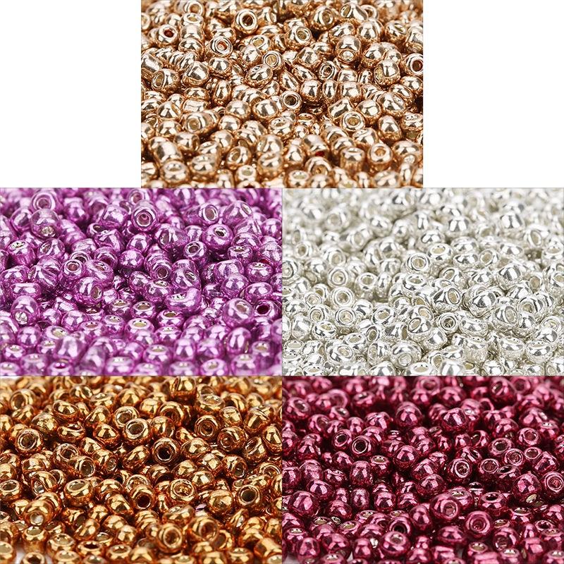 2000 pçs/lote 2mm Bling Contas de Vidro Checa Contas Espaçador Semente para Diy Jewelry Making Achados Colar Missangas Buraco 1mm F7544