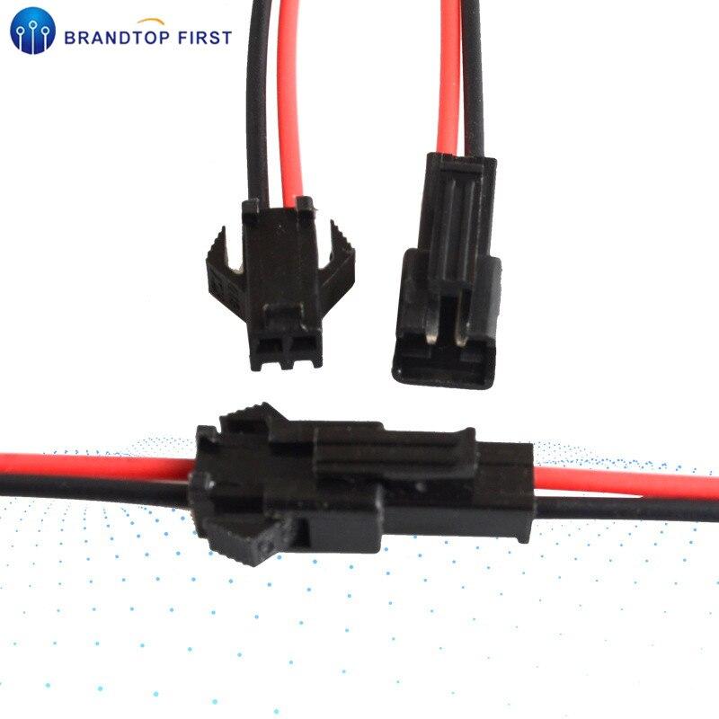 ¡Promoción! 10 pares JST SM 2 pines conector de cable macho a hembra
