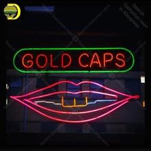 Sinal de néon para o Ouro Tampas de Tubos de vidro de Cerveja Pub Sinal da Luz de néon Sinal real Artesanais Exposição Da Loja sinais de Néon Fil gás de néon personalizado