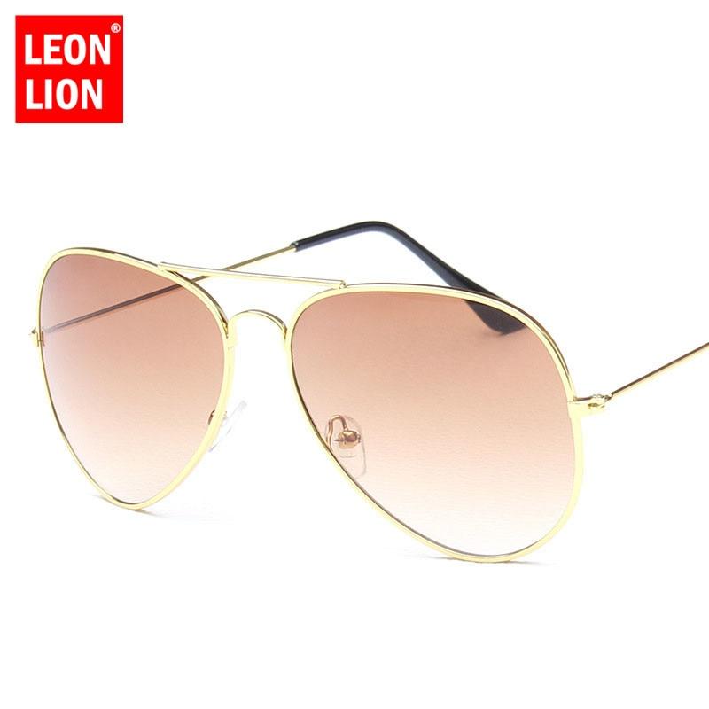 LeonLion 2021 Pilot Rainbow Sunglasses Women/Men Top Brand Designer Vintage Sun Glasses For Women Ou