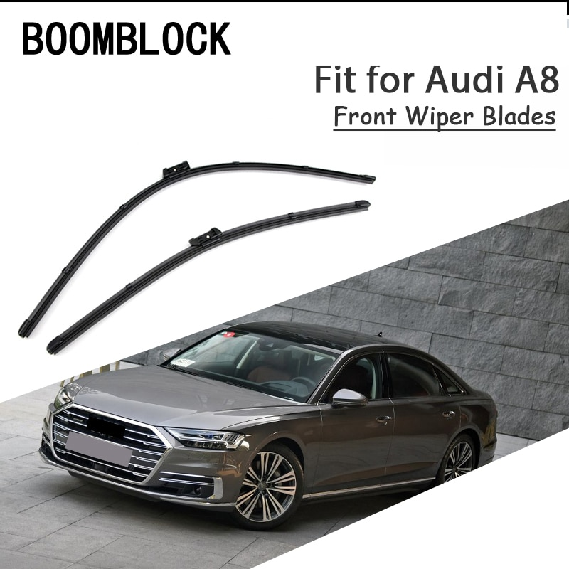 Boomblock 2 pces lâminas de limpador de pára-brisa dianteiro de alta qualidade para 1995-2018 acessórios audi a8 d2 d3 d4
