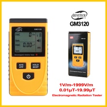 Compteur tenu dans la main de mètre dappareil de contrôle de détecteur de rayonnement électromagnétique pour loutil de mesure démission de champ électrique GM3120-BENETECH