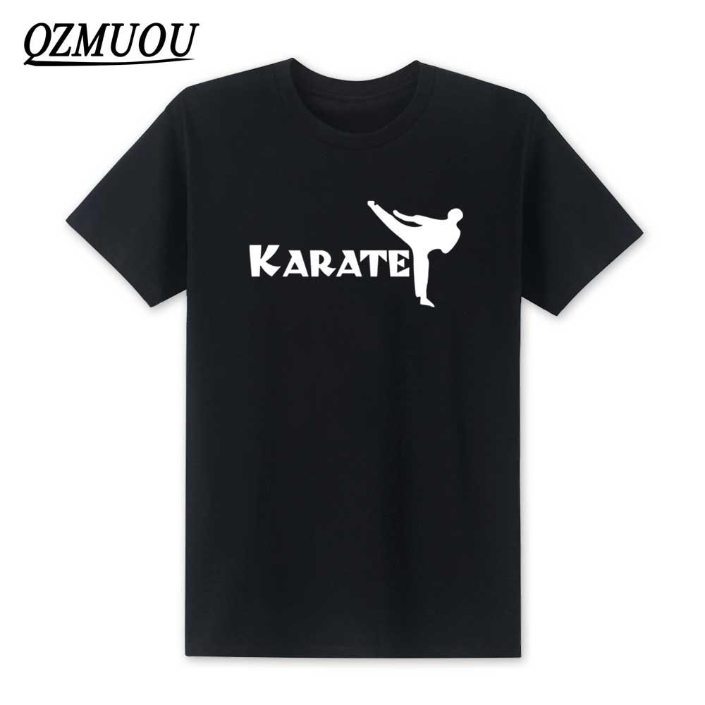 2020 nueva camiseta de Karate de moda Popular de manga corta para hombres, camiseta Kick Shotokan Kongfu, Camiseta de algodón con cuello redondo, camisetas de talla XS-XXL