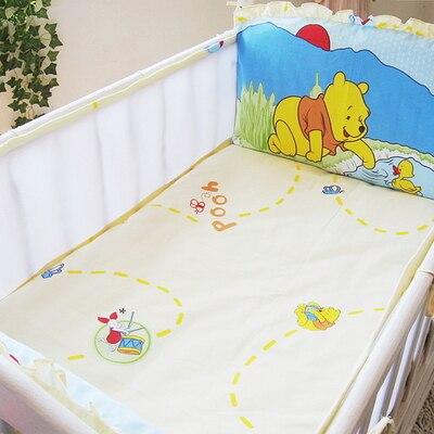 5PCS Mesh Baby bedding Bumper Sets Newborn kit berço cotton Cot Bedding kit crib set ,(4bumpers+sheet)