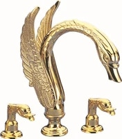 free shipping 3 pieces roman tub swan faucet bathroom swan sink tub faucet widespread classic