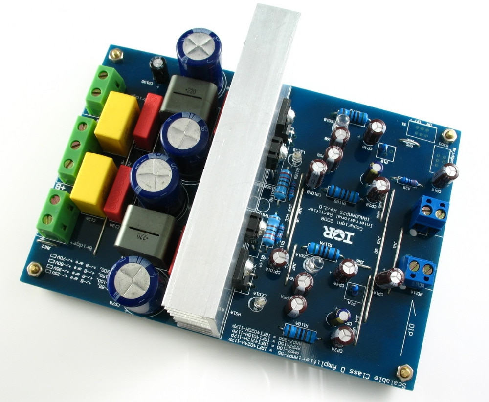 LJM assembled amplifier board L20DX2 IRS2092 Top Class D amplifier board IRAUDAMP7S 250W*2 8ohm  pg
