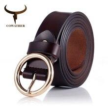 Cinturón de piel auténtica de vaca para mujer, hebilla de aleación de buena calidad, diseño de estilo a la moda, marca original NS001