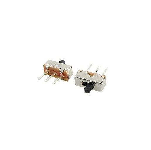 50 Uds SS12D00G3 2 Posición SPDT 1P2T 3 Pin PCB Panel mini interruptor deslizante vertical 3MM de altura