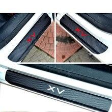 Carbon Fiber car Scuff Sticker Door Sill Sticker For subaru xv Car Styling