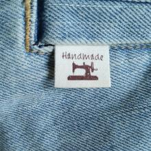200pcs handmade label stock/clothing printed cotton ribbon/handicraft  label garment printed tag/Retro Organic cotton label/