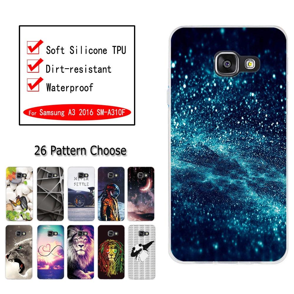 Funda para Samsung Galaxy A3 2016, funda de silicona suave TPU, funda 3D con flores y gatos bonitos, fundas para teléfono Samsung A3 6 2016 SM-A310F
