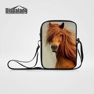 Dispalang Horse Animal Print Messenger Bags for Men Women Small Cross Body Bags Kids Travel Bags Children Mini Shoulder Bags