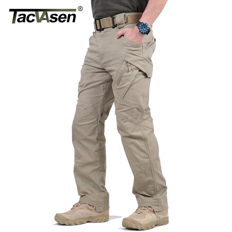 TACVASEN IX9 Men City Tactical Pants Multi Pockets Cargo Pants Military Combat Cotton Pant SWAT Army Casual Trousers Hike Pants