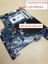 Livraison gratuite LA-5751P pour Lenovo G460 G460A z460 carte mère dordinateur portable avec carte vidéo Nvidia 310 M