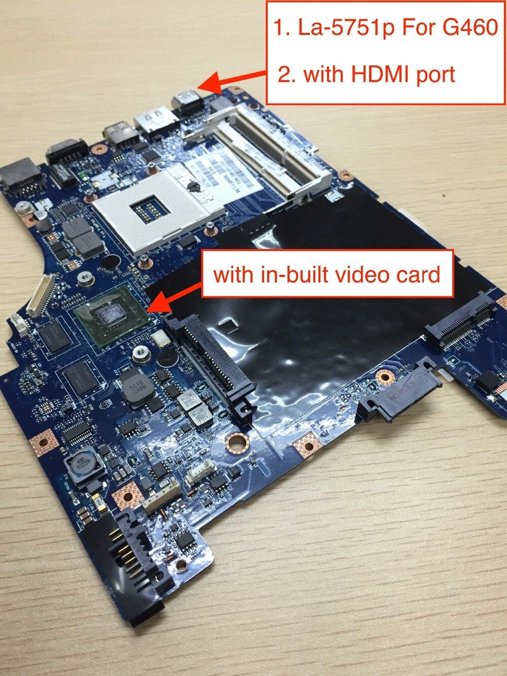 Freies Verschiffen LA-5751P für Lenovo G460 G460A z460 Laptop Motherboard mit Nvidia 310 M video karte
