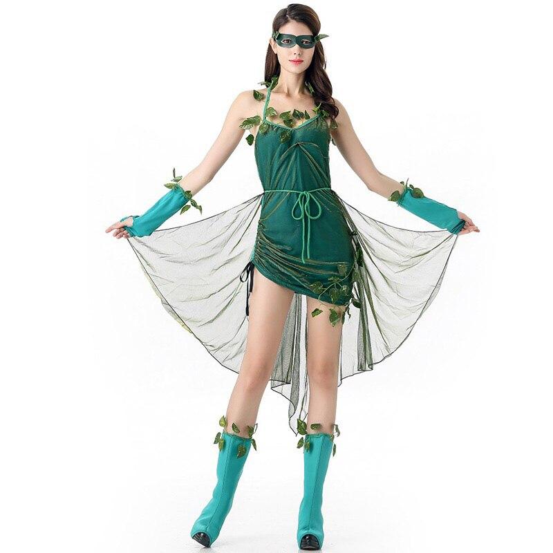 Mulheres adultas halloween fantasia elf diy idéia traje tinkerbell cosplay outfit cabresto vestido verde macacão para meninas frete grátis
