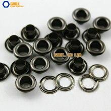 Œillets ronds en métal, lot de 1000, 9x4.5x5mm, diamètre extérieur, diamètre intérieur, hauteur