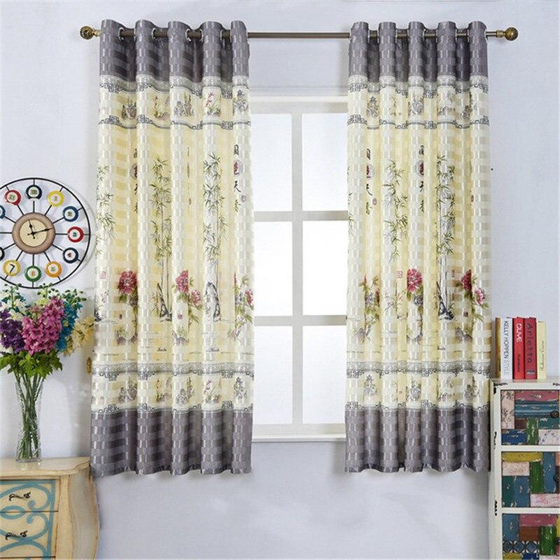 Cortinas para sala de estar/Cocina/dormitorio/ventana corta Pastoral semisombra con acabado personalizado 14 modelos especiales