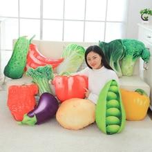 40-60 CM Simulatie Groente Kussen Kussen Groente Pluche Poppen Aardappel Broccoli Kool Erwt Peper Knuffel Creatieve Thuis