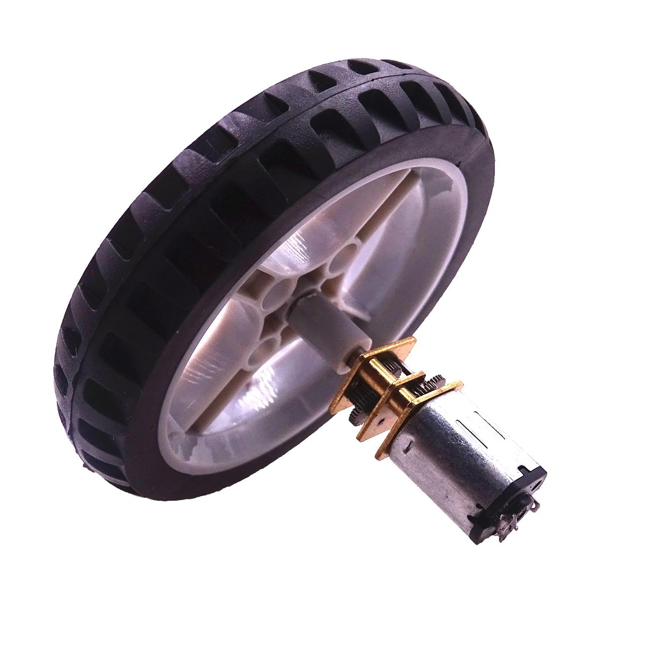 Car power kit DC 3V 6V 12V Encoder Motor Gear N20 Electric Micro Gear Motor with Wheel Screws Mounting Bracket Coupling Kit
