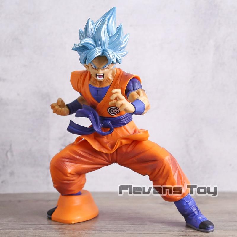Dragon Ball SUPER  Super Saiyan God Blue Hair Son Goku PVC Figure Toy DBZ Kakarotto Model Figurine Collection