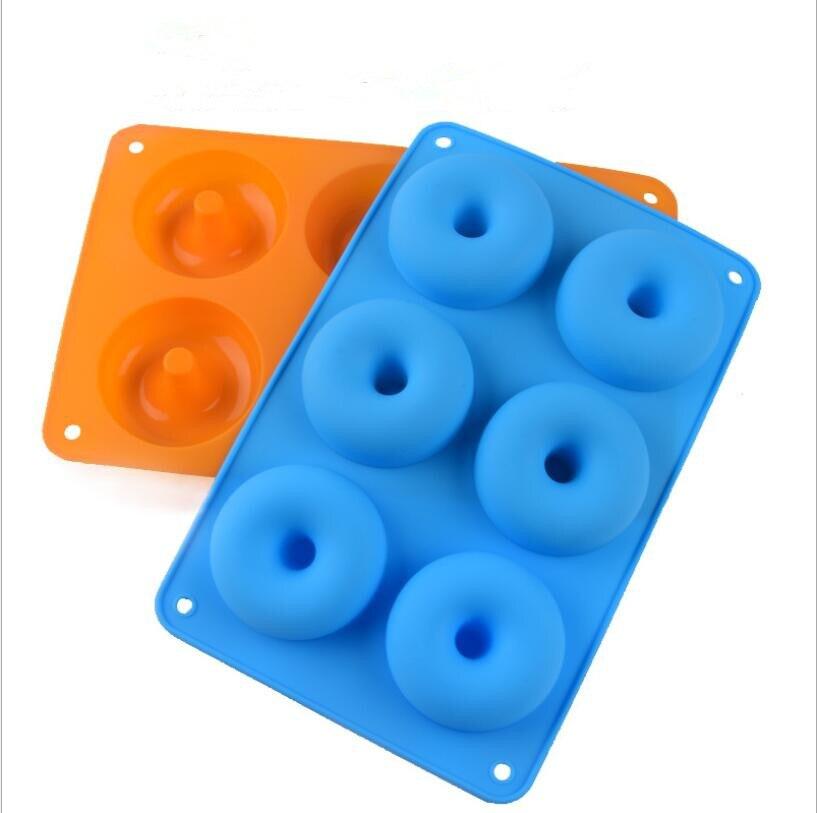 Molde de silicona con forma de donut para hacer dulces, postres, pasteles,...