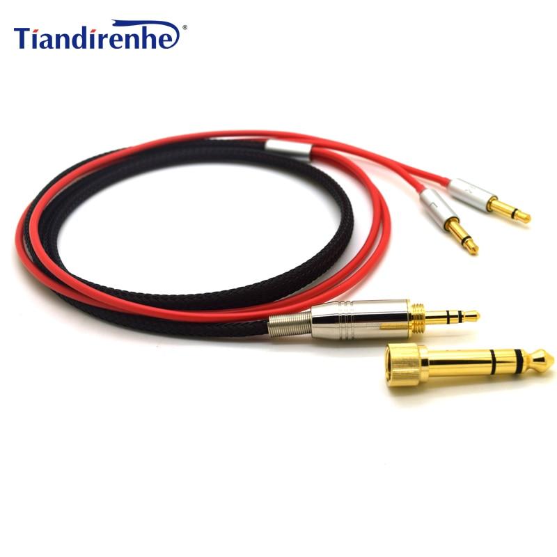 Кабель для Denon AH-D600 D7100 Velodyne vTrue Наушники Замена аудио кабель Шнуры 6,35/3,5 мм штекер 2x3,5 мм штекер