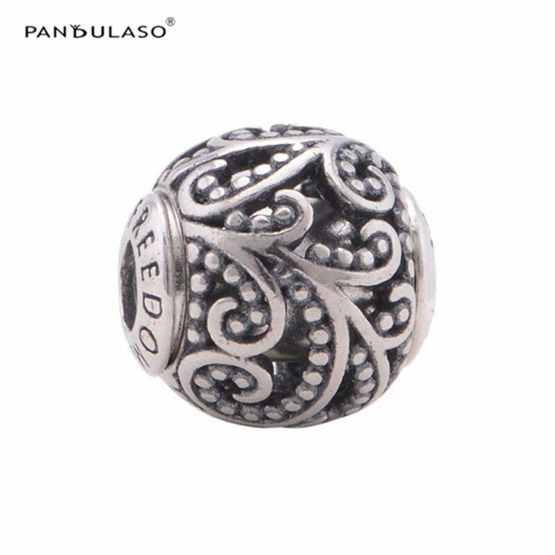 TOP se adapta a pulseras europeas Freedom Essence Charms 100% 925 Sterling Silver DIY Beads joyería de moda envío gratis ST102