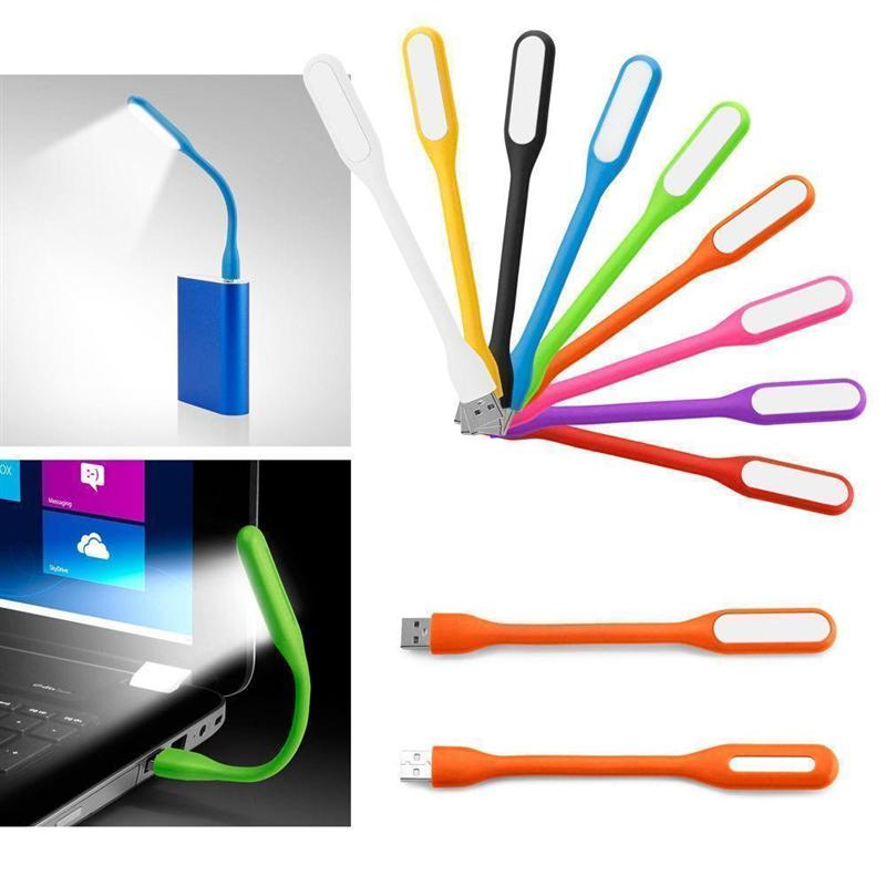 Mini USB LED luz 5V 1,2 W banco de energía lectura Luz Portátil portátil LED Lámpara USB noche luces libro luz (Color al azar)