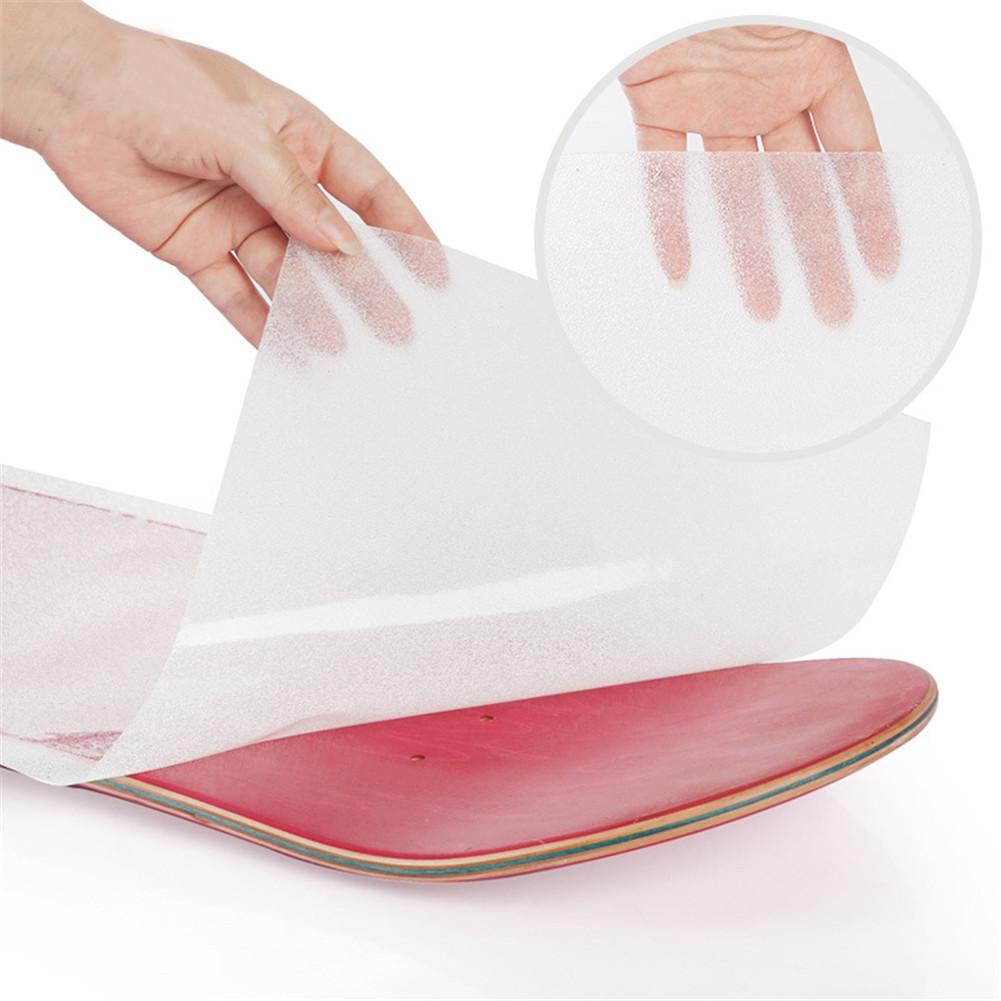 Papel de lija Longboard, 1 pieza de PVC, monopatín de alta calidad, papel de arena perforado, cinta de agarre de la cubierta, pegatina de patín, papel de lija