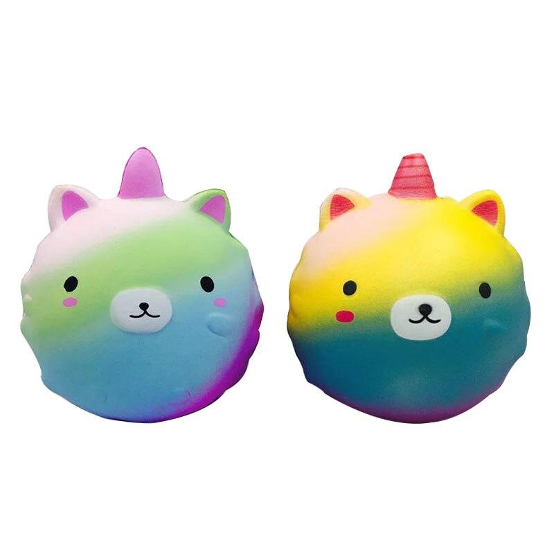 11 cm suave lindo unicornio lento aumento Squishy juguete Kawaii curación estrés simulación perfumada exprimidor regalos