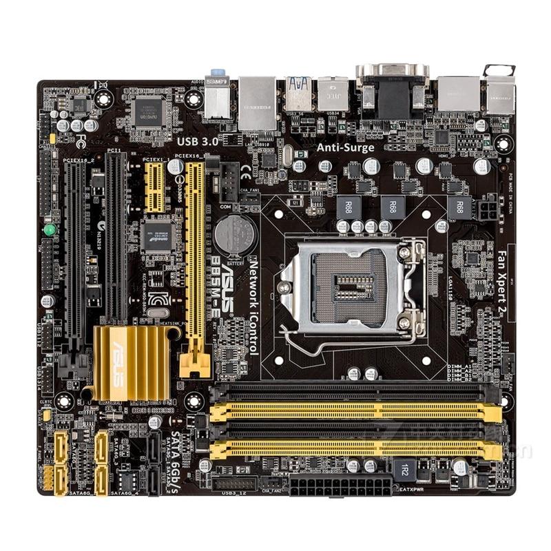 Asus B85M-E Desktop Motherboard B85 Socket LGA 1150 i3 i5 i7 DDR3 32G ATX UEFI BIOS Original Used Mainboard On Sale