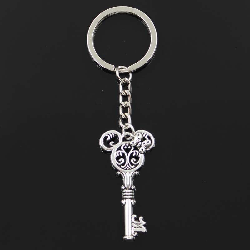 Модный брелок 46х22мм винтажный брелок для Мыши DIY мужские ювелирные изделия автомобильный брелок держатель для ключей сувенир для подарка