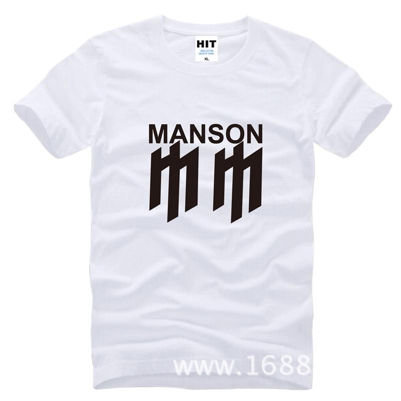 Marilyn Manson-Camiseta de rock de metal para hombre, camisa de manga corta...