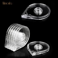 2pcs6pcs nail art striping tape line box plastic clear gold sliver wire storage case nail sticker holder nail accessories