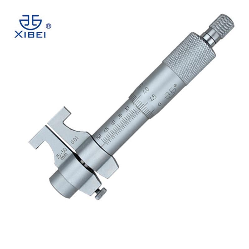 Dentro de micrómetro 25-50mm/0,01 calibre de alta precisión escala vernier micrómetro al por mayor calibre de dial interno