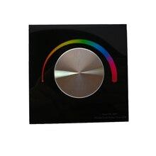 Nouveau contrôleur de bande Led RGB cc 12V 24V entrée 4A 3CH sortie montage mural bouton rotatif manuel 12V 5050 3528 RGB contrôleur de bande Led