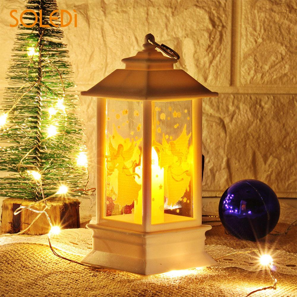 Luz de llama de Navidad, regalo de fiesta, decoración del hogar, luces de Halloween, decoración de boda, decoración, candelabro para fiestas, lámpara de noche
