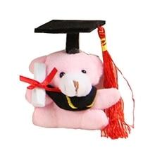 1pc Cute Dr. Bear Plush Toy Stuffed Soft Kawaii Teddy Bear Animal Dolls Graduation Gifts For Kids Children Girls