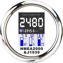 316 Stainless Steel NMEA 2000 Multifunction Gauge IP67 85mm For Marine Boat Yacht