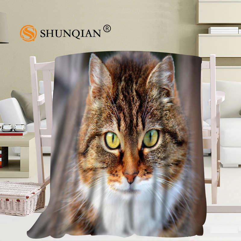 لطيف الحيوانات القط بطانية لينة DIY بها بنفسك أريكة سرير رمي بطانية طفل الكبار بطانية دافئة مخصصة 56x80Inch50X60Inch40X50Inch