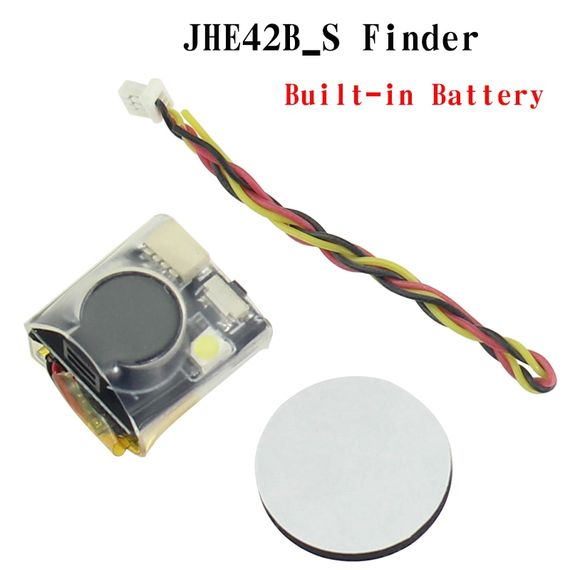 JHE42B_S Finder 5V Super ruidoso zumbador Tracker 100dB batería integrada para el controlador de vuelo multicóptero RC Dron Part Accs