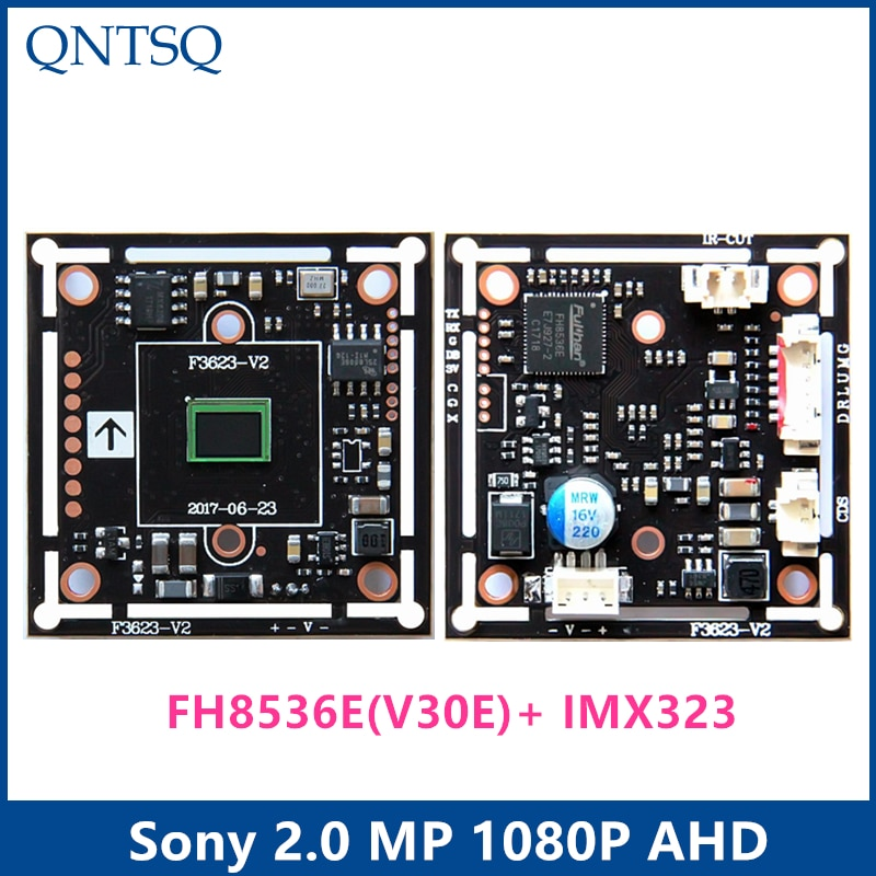 "AHD 2.0MP 1920x1080P 1/2 9 ""CMOS FH8536E (V30E) + IMX323 Sony conjunto de chips DSP CCTV Placa de módulo de cámara chip de chipset"